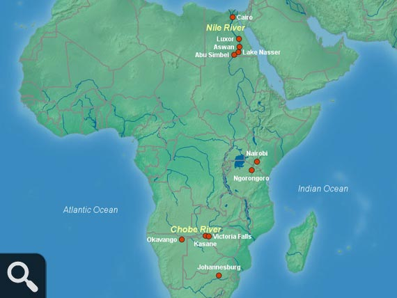 Africa Rivers Map