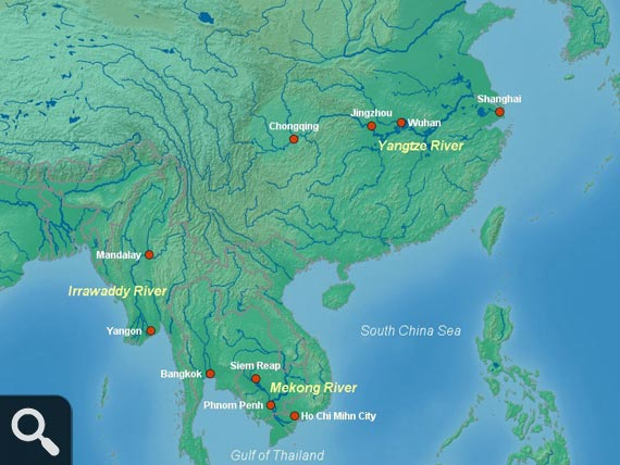 Asia Rivers Map