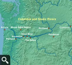 Columbia and Snake River Map