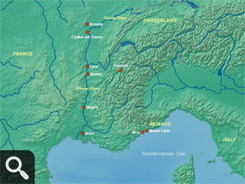 Rhone River Map